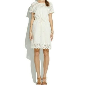 Madewell Eyelet Wildfield Dress in Ivory